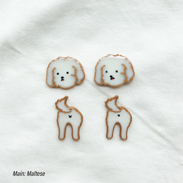 Doggies custom pin (two pins in one set)