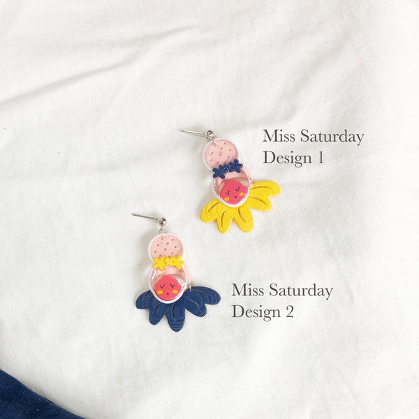 Miss Week Mismatch earrings (preorder)