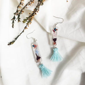 Rejoice Silver Fish Hook (w mint Tassel)