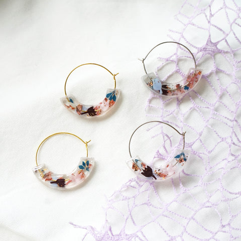 Rejoice Moon Hoop Earrings (pre-order)
