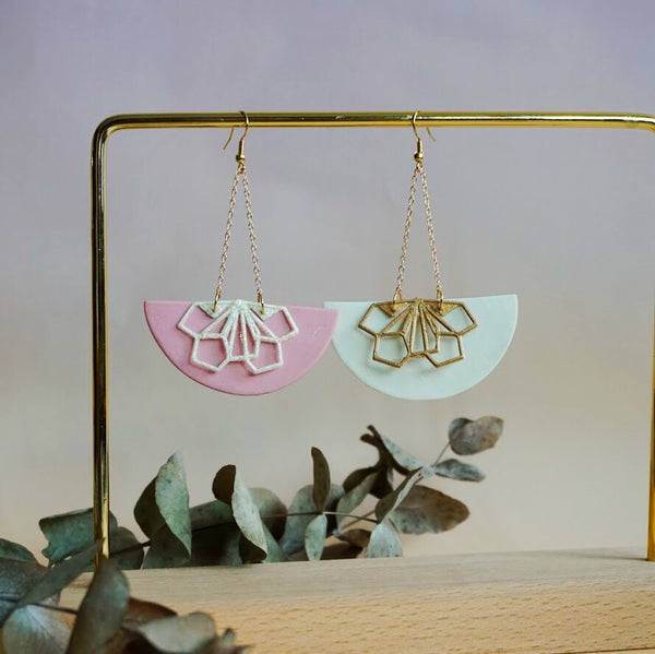 Floral Moon Earrings