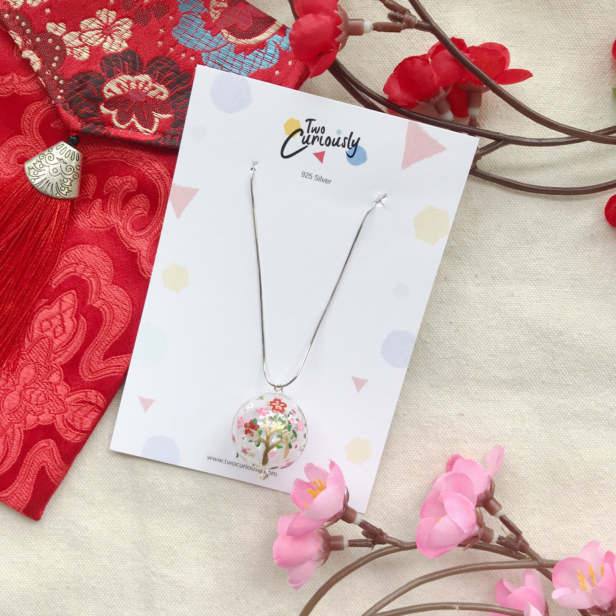 The Bloom bubbles necklace (925 silver)