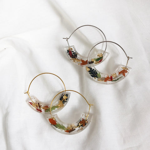 Autumn Moon Hoop Earrings (pre-order)