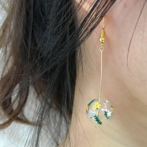 Warm Floral bubble earrings