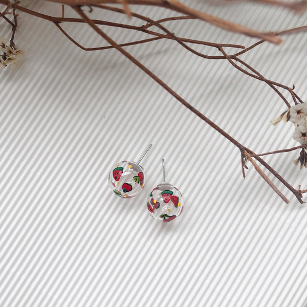 Mixture fruits bubbles studs (preorder)