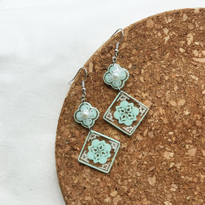 Tiles w floral (turquoise)