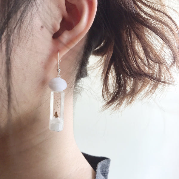 Snow Time Earrings (Silver) - (preorder)