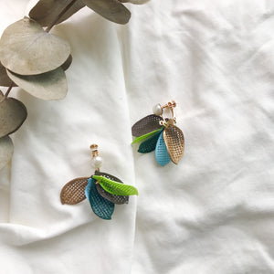 Autumn Leaves clip-on earrings