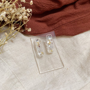 Classic Gold Rectangle Studs
