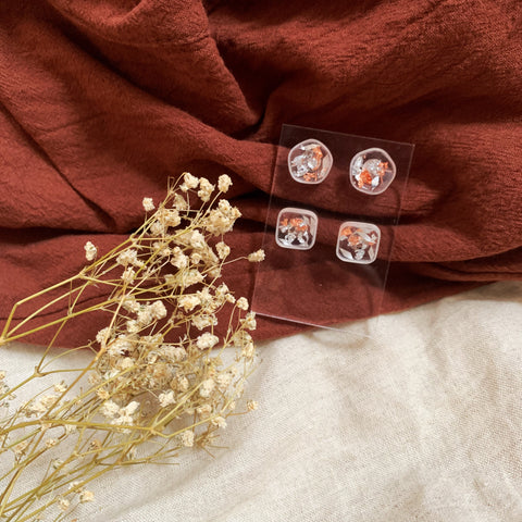 Classic Rose Gold Studs set (4 pcs)