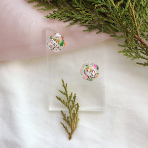 Garden Party bubbles studs