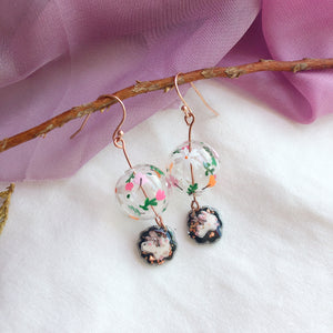 Garden Party bubbles dangling (925 silver only)