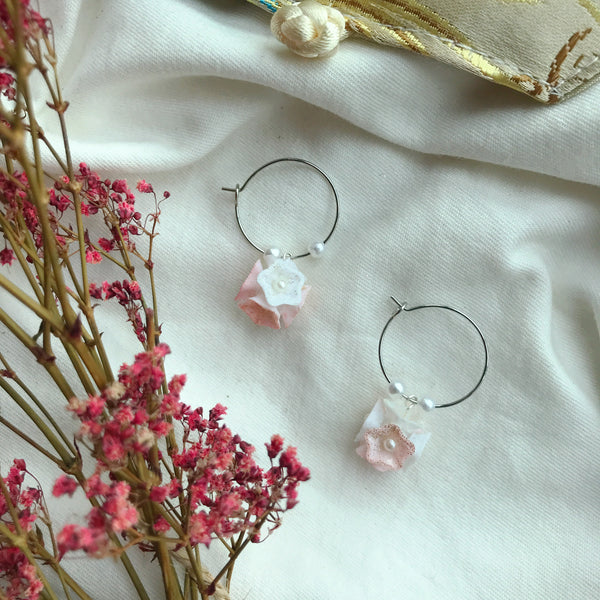 Soft Pink Pure Love Mini Hoops