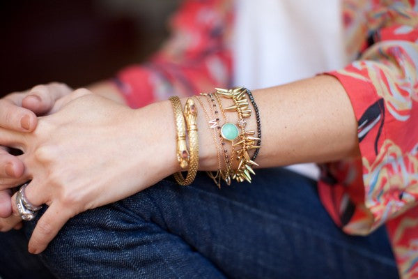 Master the art of layering jewelry.