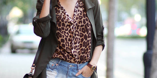leopard prints top