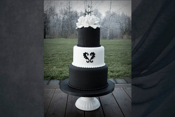 Black Goth Alternative Wedding Cake
