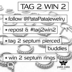 Septum Ring Contest Pata Pata Jewelry