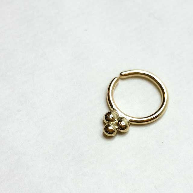 Bindi Mod - 14k Gold Septum Ring - PataPataJewelry