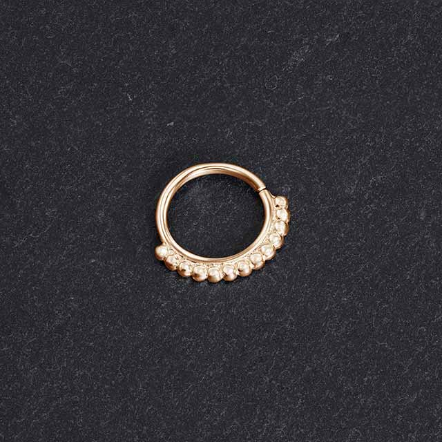 Tiny Septum Gold | patapatajewelry