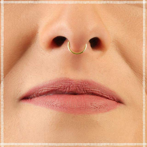 Septum Ring Gold | PataPataJewelry