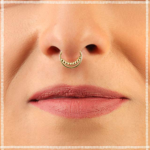 14k Gold Septum Ring | patapatajewelry