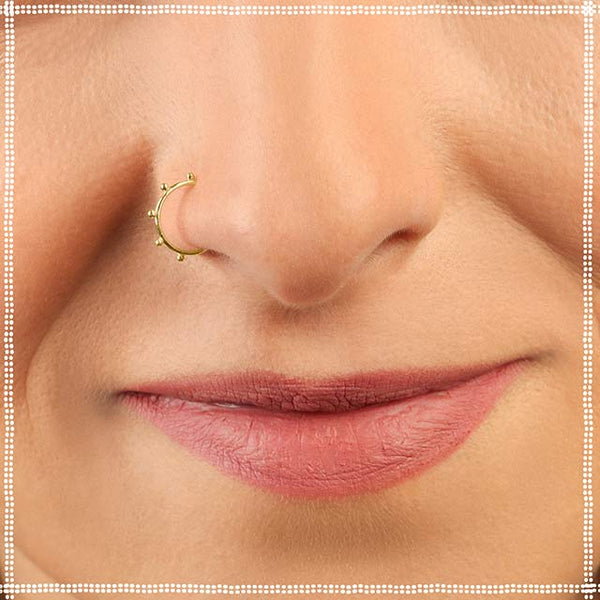 Solid Gold Nose Ring - Choker - PataPataJewelry