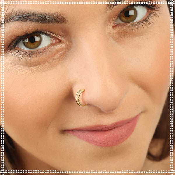 Nose Ring Gold - 14k Delicate Beauty - PataPataJewelry