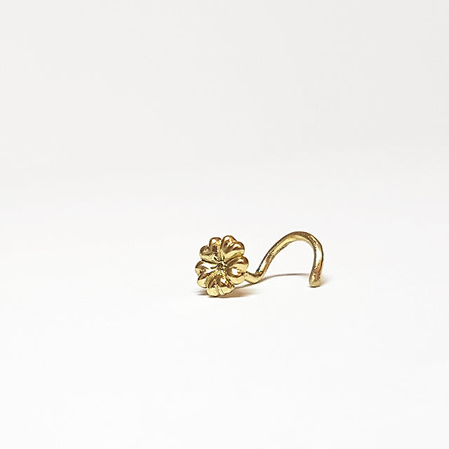 20 gauge nose stud solid gold