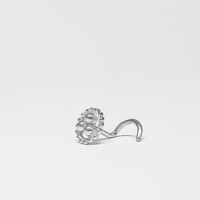 hippie nose ring silver 20g