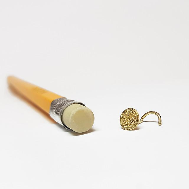 22 gauge nose stud pin gold