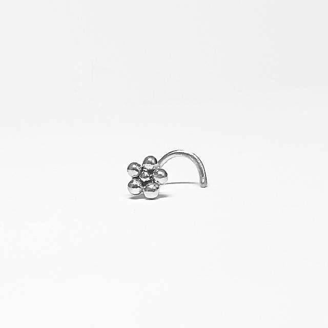 tribal nose stud silver