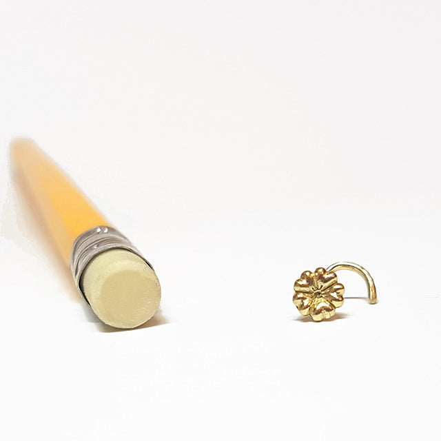 tribal nose stud screw gold