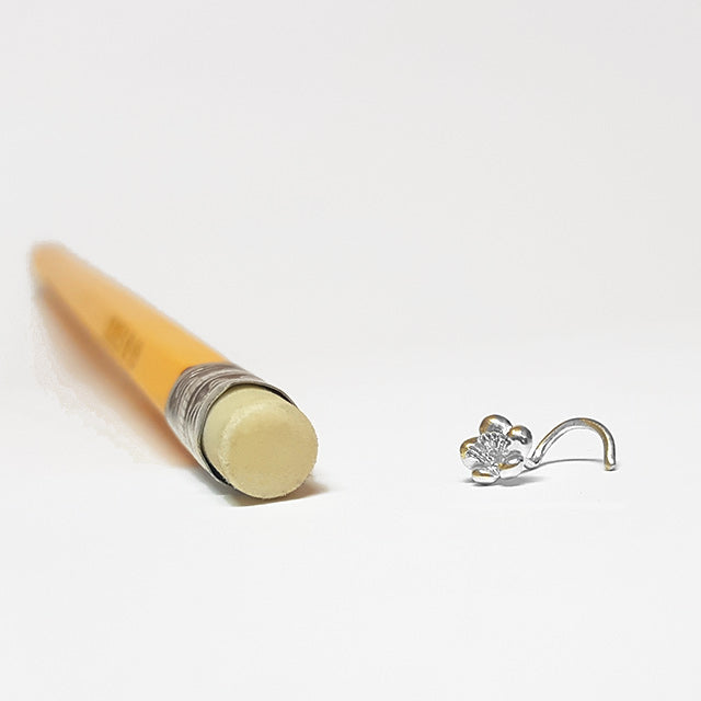 indian nose stud silver