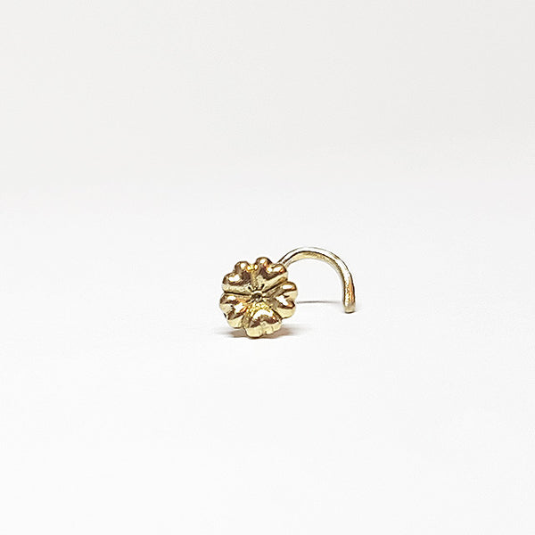 Queen of Hearts - 14k Gold Nose Stud - PataPataJewelry