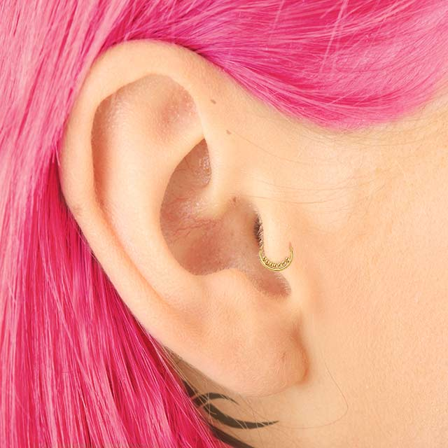 tragus piercing jewelry gold 18 gauge