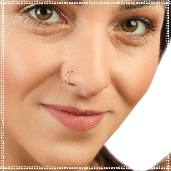 Hoop Nose Ring - 14k Gold - Tiny Nose Ring - PataPataJewelry