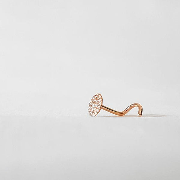 Nose screw rose gold