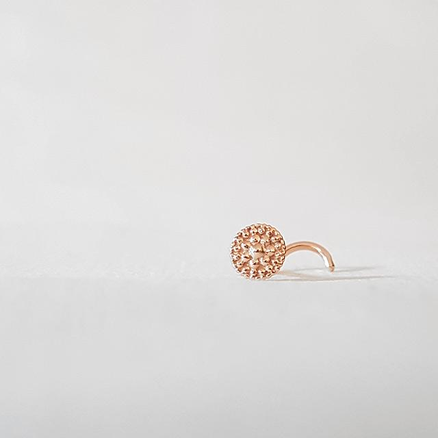 Eternal Balance - 14k Rose Gold Nose Stud - patapatajewelry