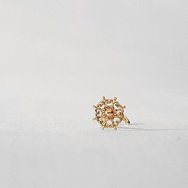 Prosperity Mandala - 14k Gold Nose Stud
