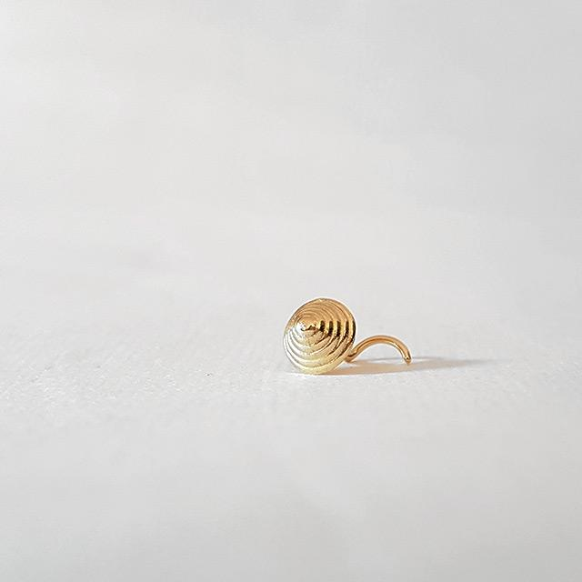 20g cartilage earring gold