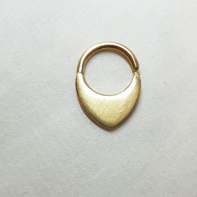 14k Gold Septum Ring- Neptune's Child - patapatajewelry