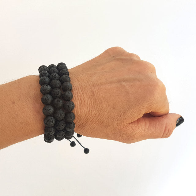 jewelry from lava stone