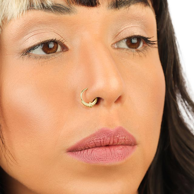 Solid Gold Nose Ring | Pata Pata Jewelry