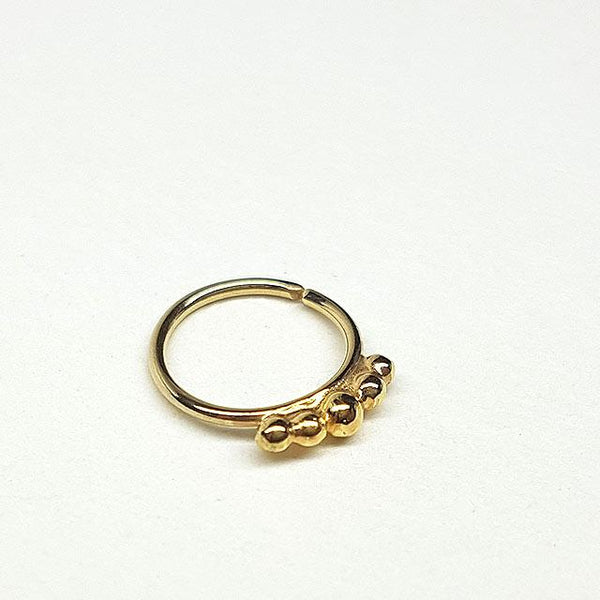 Urban Princess - 14k Gold Nose Ring - PataPataJewelry