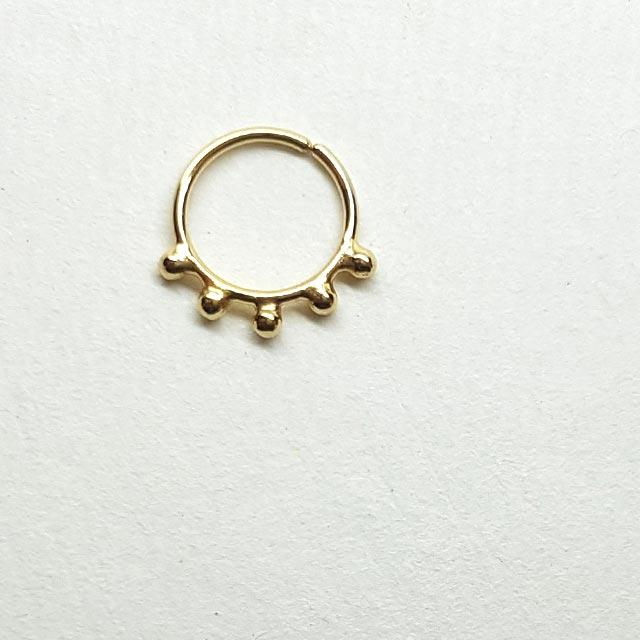 Super Cute Small Choker Gold Nose Ring Hoop patapatajewelry