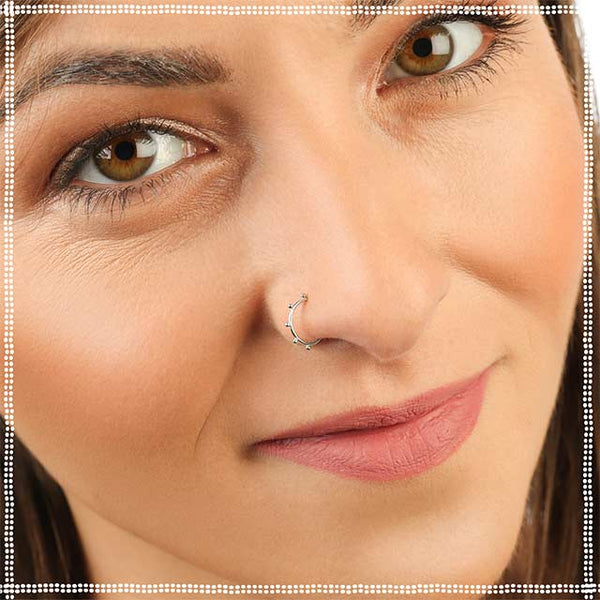 Silver Nose Ring | PataPataJewelry