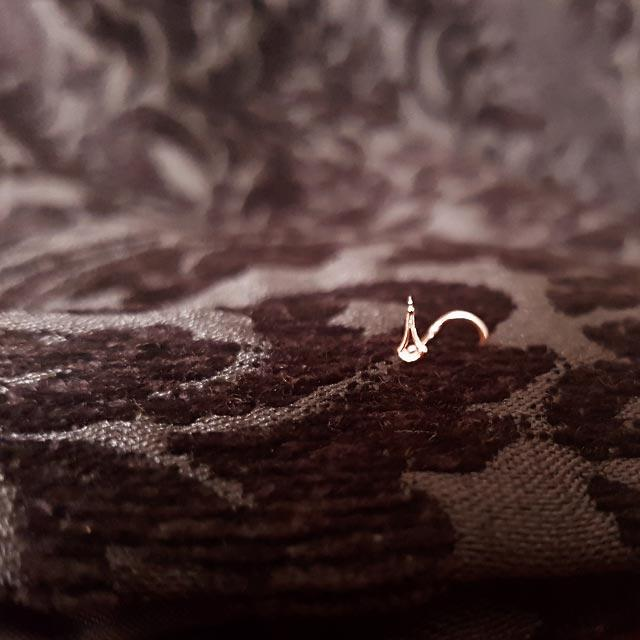 Angel Tears - 14k Rose Gold Nose Stud