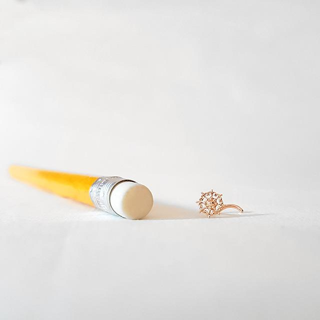 Prosperity Mandala - 14k Rose Gold Nose Stud