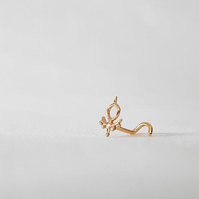 tragus jewelry stud gold