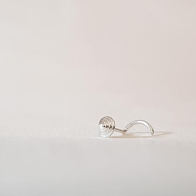 small nose stud silver 21g
